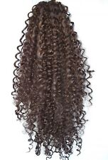 "Choc Brown #6 curly afro 24"" long drawstring ponytail hair extension piece"