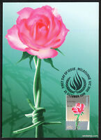 1998 Human Rights Rose Maxi Cards Prepaid Postcard Maxicards Stamps