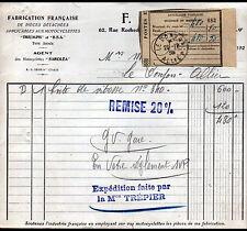 """PARIS (IX°) CONCESSIONNAIRE MOTOS TRIUMPH B.S.A. & SAROLEA """"F. DELAUNAY"""" en 1930"""