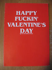 "Funny Comedy Humor Rude Adult Valentine Day Card ""Happy Fu-kin' Valentine's Day"""