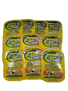 CYBER CLEAN High-Tech Cleaning Compound (10 Pack) 1 oz each. Yellow - BRAND NEW