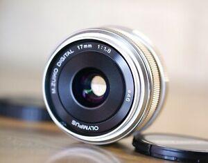 Olympus M.Zuiko Digital 17mm F/1.8 Wide Angle Lens - Silver