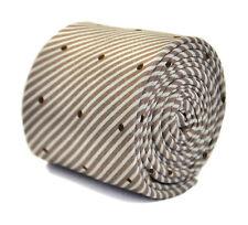 Frederick Thomas MARRON CLAIR CRAVATE AVEC pointillée & Motif Rayé 100% coton