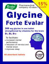 Glycine Forte Evalar 300mg, vitamins for the brain. 60 tab - FREE SHIPPING