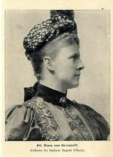 Frl. Klara von Gersdorff Hofdame der Kaiserin Auguste Viktoria Memorabilie 1904