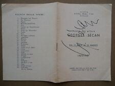 Autografo Geroges Secan Catalogo Mostra Saletta Hotel Real Fini Modena 1964 Arte
