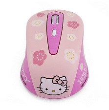 HelloKitty Wireless 2.4Ghz Optical Mouse Mini 3D USB Mice Notebook Computer PC