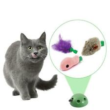 Cat Toy With 3 Replaceable Accessories Mouse Fish Feather Fitting Training Game