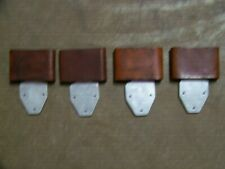 """Blevins Type  3"""" Leather Covered Vertical Stirrup Leather Buckles TWO PAIRS"""