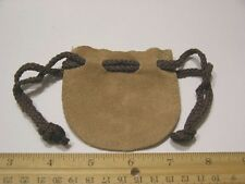 Leather pouch purse 3.25 x 3 inch with drawstring real soft supple leather