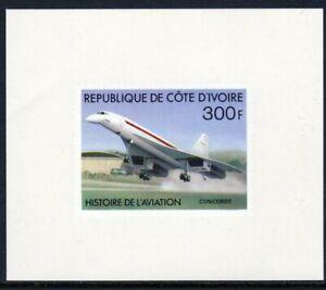 Ivory Coast Scott #438 VF MNH 1977 300 F Concorde Imperf Proof