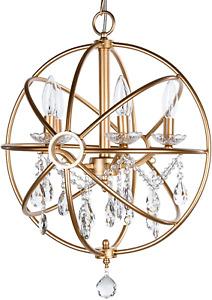 Amalfi Decor 5 Light Orb Crystal Beaded Chandelier, LED Cage Wrought Iron K9