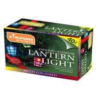 40 Multi Coloured Outdoor LED Lantern Lights
