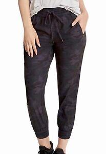 New Danskin Women's Woven Jogger Active Drawcord Pant Medium M Black Camo