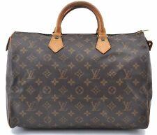Authentic Louis Vuitton Monogram Speedy35 Hand Bag M41524 LV B3921