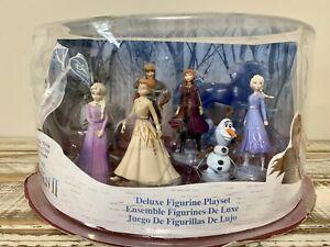Frozen 2 Deluxe Figurine 8 Piece Set - New (Damaged Box)