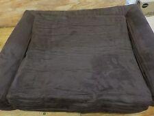 KOPEKS Deluxe Orthopedic Memory Foam Sofa Lounge Dog Bed, Small, Brown, OPEN BOX