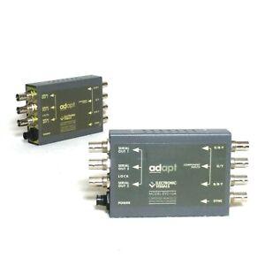 2x ADAPT EVD10A Mini Converter Analog to SDI S-Video Digital BNC Analogue