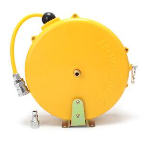 Mini Retractable Enclosed Plastic Air Hose Reel 1/4in. x 26ft