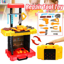 Kids/Children Pretend Role Play DIY Workbench Tool Toy Toolbox Drill Repai
