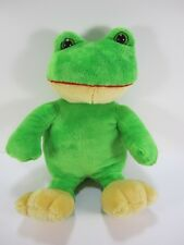 "Dan Dee Collector's Choice Frog Green w Yellow Feet 14"" Stuffed Plush Soft"