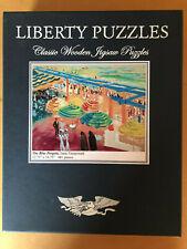 "Liberty Wooden Jigsaw Puzzle - ""The Blue Pergola"" by Isaac Grunewald"