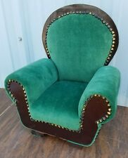 """Vintage Tuffed Arm Chair Possibly Saleman's Sample Used for Doll Chair 14"""""""