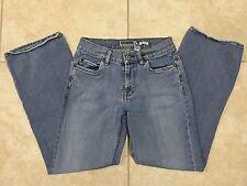 ☀️ Old Navy Women Blue Denim Jeans Boot Cut Low Rise Stretch Light Wash 2 Short