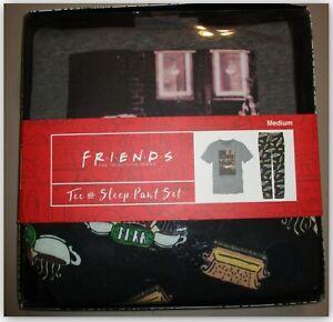 Bioworld Friends TV Show Tee & Sleep pants Gift set Men's S or M Cotton/Poly