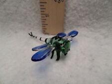 Blown Glass Figurine colorful dragonfly art handmade miniatures