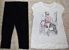 Justice Girl's Super Soft Jersey Girl Dog Tunic Top Shirt Capri Leggings Sz 12 Y