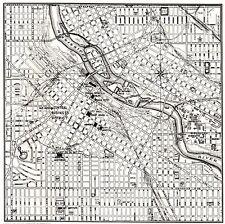 1943 Antique MINNEAPOLIS Minnesota City Map Minneapolis Street Map 6362