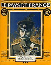 Portrait Général Letchilsky Imperial Russia Army in Bucovine Bucovina  1916 WWI