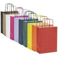 Bright Paper Party Bags - Gift Bag With Handles Recyclable Birthday Loot Bag NEW