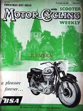 Dec 10 1959 B.S.A. Motor Cycle ADVERT - Magazine Cover Print