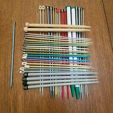 "24 Sets Of Knitting Needles! + 10"" Crochet Hook."