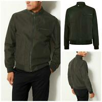 Marks Spencer M&S Mens Khaki Stormwear Bomber Jacket Rainproof Size S - 4XL