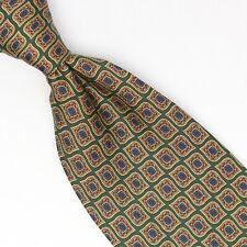 Zadi Andrews Ties Mens Silk Necktie Green Gold Red Blue Geometric Print Italy