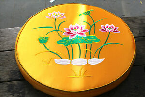 """19"""" Round Embroidery lotus meditation cushions Buddhist supplies Free Shipping"""
