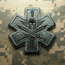 SPARTAN ARMY MEDIC EMT EMS US ARMY USA MILITARY MILSPEC MORALE ACU HOOK PATCH