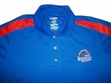 New Mens NCAA Boise State Broncos Blue Collar Golf Polo Short Sleeve Dress Shirt
