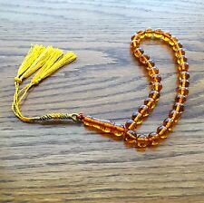 Misbaha Islam 33 Prayer Beads Natural Pressed Amber & Resin Beautiful Scent