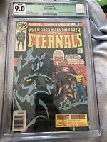Eternals #1 1st App of Eternals 1976 CGC qualified 9.0 Cents Marvel Comics MCU
