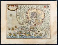 Sitz Und Reddition Der Rochelle - Gravur IN Geschliffenes Süß - landkarte Antik