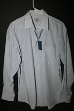 Blue Brothers Dress Shirt New w/ tags white w/ Blue strips Long sheeves XL