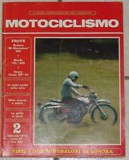RIVISTA MOTOCICLISMO FEBBRAIO 1971 MOTO D'EPOCA BULTACO HONDA CL 350 DEMM CROSS