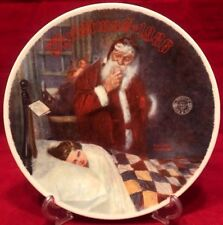 "1986 Norman Rockwell ""Deer Santy Claus"" Christmas Limited-Edition Plate Euc!"