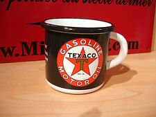 PLAQUE EMAILLEE TASSE cafe mug HUILE TEXACO OIL garage enameled COFFEE CUP