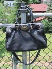 Michael Kors Black Leather Large Satchel Handbag