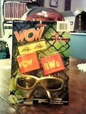 WWF WCW nWo Set - Sunglasses, Tattoos, Wrist Bands 1998